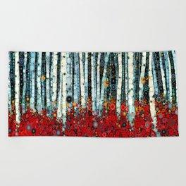 :: Begonia Birch :: Beach Towel