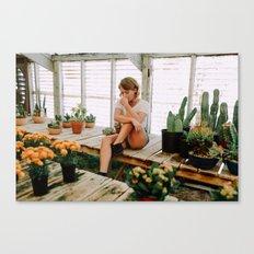 greenhouse girl Canvas Print