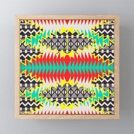 Tribal Beat Geo Neon Framed Mini Art Print