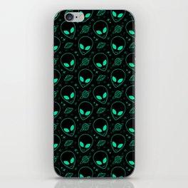 Alien and UFO Pattern iPhone Skin
