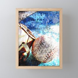 Baseball artwork vs cx 2 Framed Mini Art Print