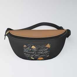 Fall Autumn-It's the most Wonder-Fall time of the year Dark Fanny Pack
