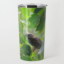 SPARROW IN THE GREEN - FACING LEFT Travel Mug