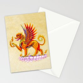 Singha Winged Lion Temple Guardian Stationery Cards