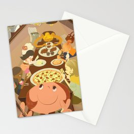 eating moment selfie  Stationery Cards
