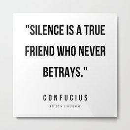 21 | Confucius Quotes | 200202 Metal Print