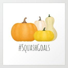 #SquashGoals Art Print