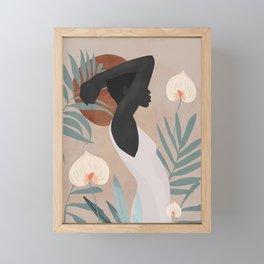 Tropical Girl 4 Framed Mini Art Print