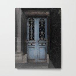 Gothic Door Cemetery Paris Metal Print