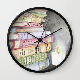 Wishlist of Vintage Books Wall Clock
