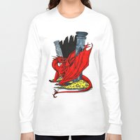 smaug Long Sleeve T-shirts featuring Smaug the Stupendous by Lydia Joy Palmer