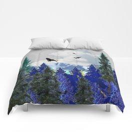 PURPLE MOUNTAINS WILDERNESS LANDSCAPE Comforters