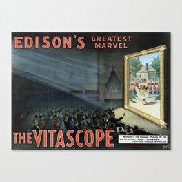 The Vitascope - Vintage Ad Canvas Print