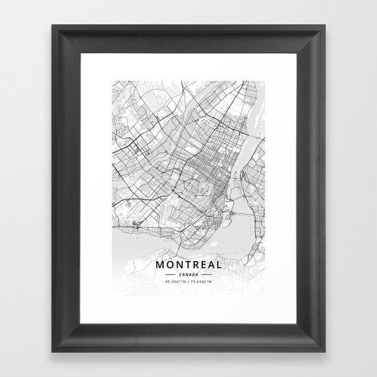 Montreal, Canada - Light Map by designermapart