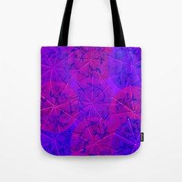 Purple Umbrellas Tote Bag