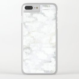 Paint Strokes Clear iPhone Case