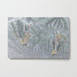 Big Bear Resorts Trail Map Metal Print