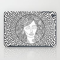 versace iPad Cases featuring GREEK GODDESS by AZZURRO ARTS