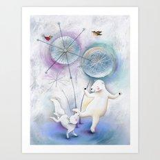 Winter Solstice Dance Art Print