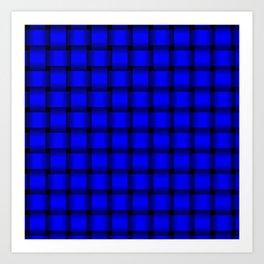 Blue Weave Art Print