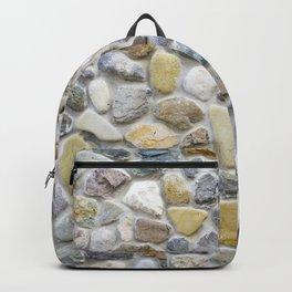Wall pebble pattern Backpack