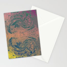 Pink Neon Marble - Earth Gum #nature #planet #marble Stationery Cards