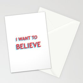 I Want To Believe - Blue/Red Stationery Cards