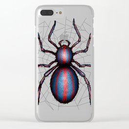 Spider not man Clear iPhone Case
