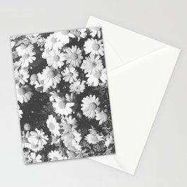 Black and White Flowers Stationery Cards