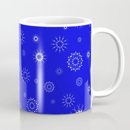 Snowflakes seamless pattern, textile, surface pattern Coffee Mug