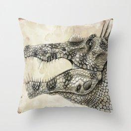 Spinosaurus Head Study Throw Pillow