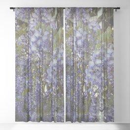 Wisteria Flowers Sheer Curtain