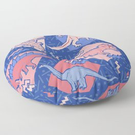 Nineties Dinosaurs Pattern  - Rose Quartz and Serenity version Floor Pillow