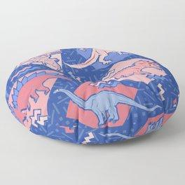 Nineties Dinosaurs Pattern  - Rose Quartz and Serenity version Floor Pillow