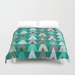Geometric Triangles | teal turquoise Duvet Cover