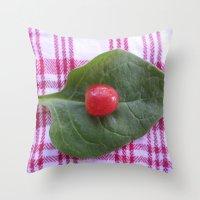 health Throw Pillows featuring Good Health by Manuel Estrela 113 Art Miami