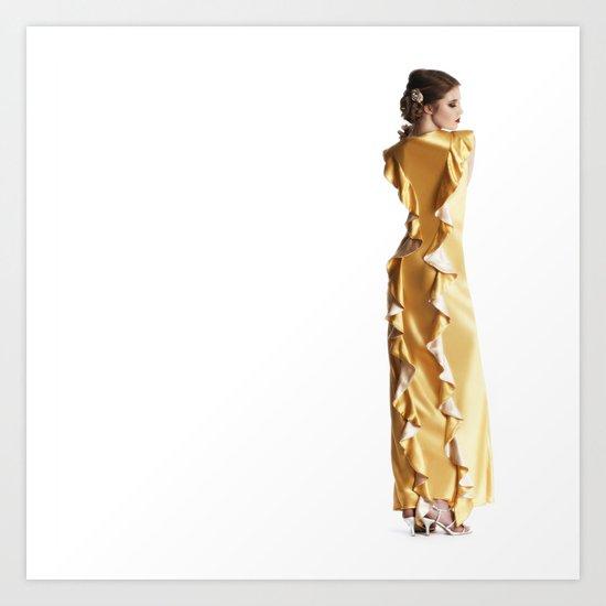 The marigold Dress Art Print