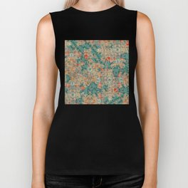 Study in Teal and Peach Biker Tank