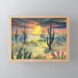 Desert Twilight Framed Mini Art Print