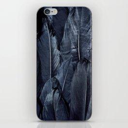 Mystic Black Feather Close Up iPhone Skin
