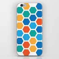 hexagon iPhone & iPod Skins featuring Hexagon by Danielle Arrington