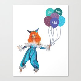 Aja - Clown Canvas Print