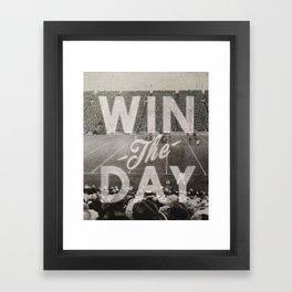 Win the Day Framed Art Print
