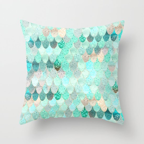summer mermaid throw pillow - Toss Pillows