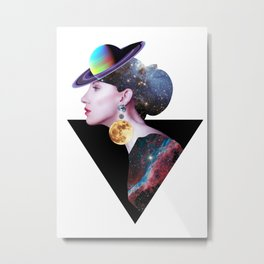 Lady from Outer Space Metal Print