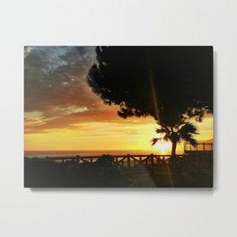 Sunset at the Santa Monica Bluffs Metal Print