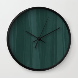 Forest Green Wash Wall Clock