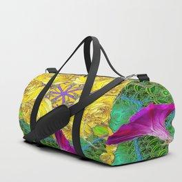 MYSTIC YELLOW ROSES MORNING GLORIES GREEN ART Duffle Bag