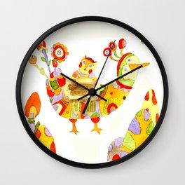 Kater auf dem Vogel Wall Clock