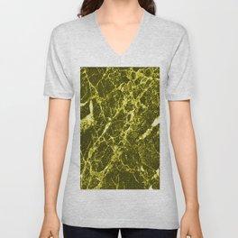 Yellow Marble Unisex V-Neck